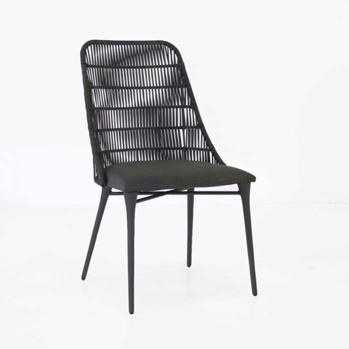 Morgan Outdoor Wicker Dining Chair (Cocoa)-0