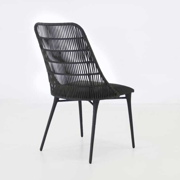 Morgan Outdoor Wicker Dining Chair Cocoa Teak Warehouse