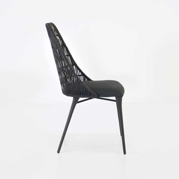 Outdoor Wicker Dining Chair black side view