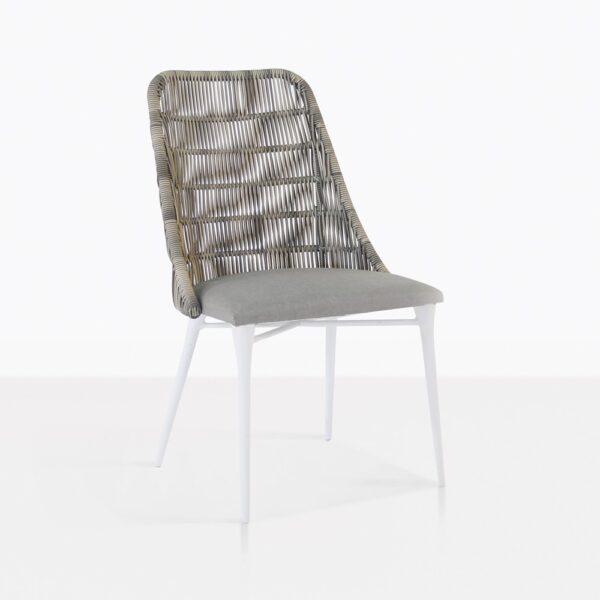 Morgan outdoor wicker dining chair stonewash sunbrella