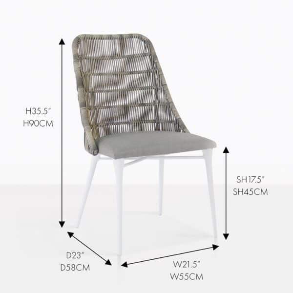 morgan stone dining wicker chair