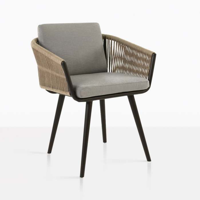 tessa rope dining chair angle