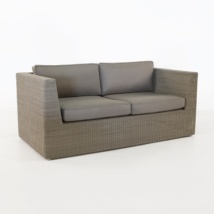 Antonio Outdoor Wicker Loveseat (Stonewash)-0