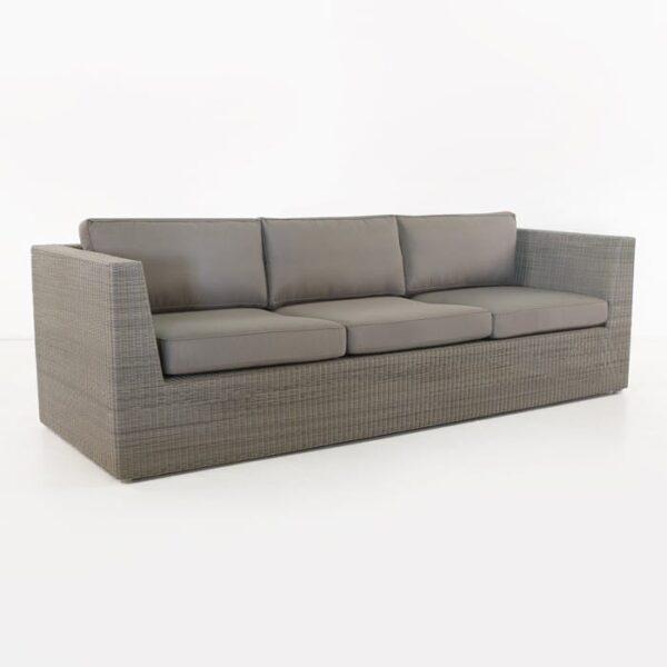 Antonio Outdoor Wicker Sofa (Stonewash)-0