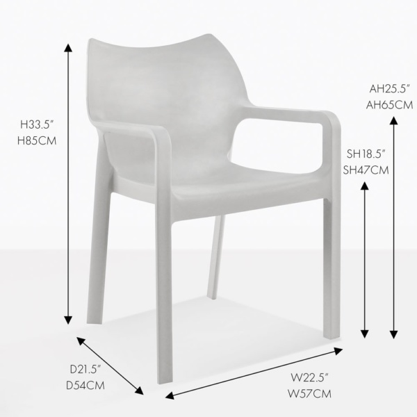 cape chair dining grey
