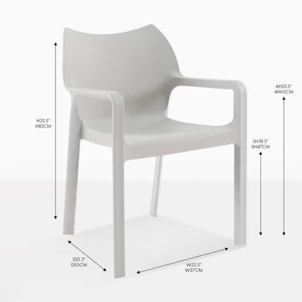 cape grey dining chair