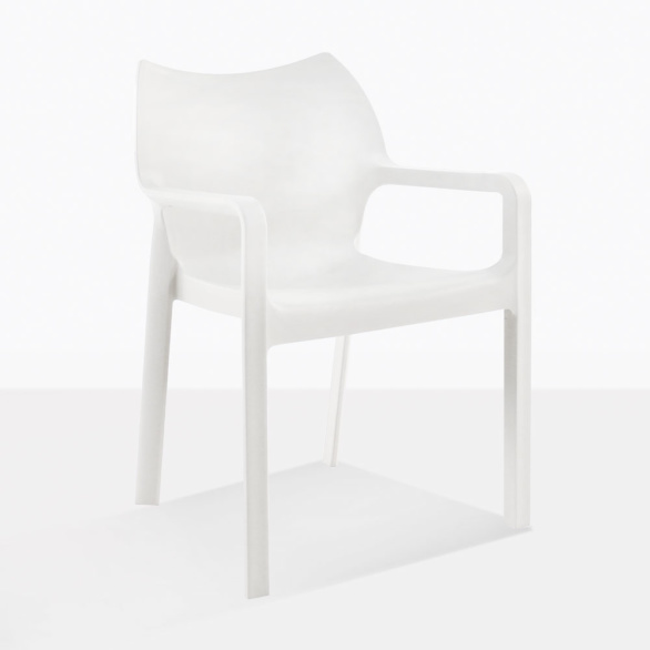 Cape White Plastic Dining Chair