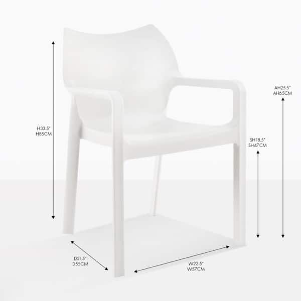 cape white dining chair