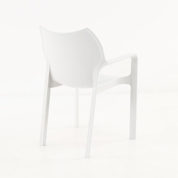 Cafe Dining Chair white back view