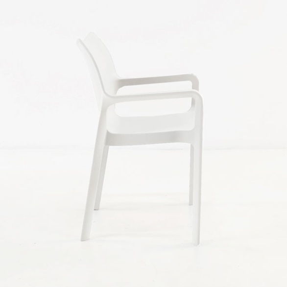 Cafe Dining Chair white side view