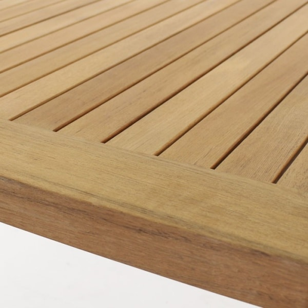 A-grade teak table top close up