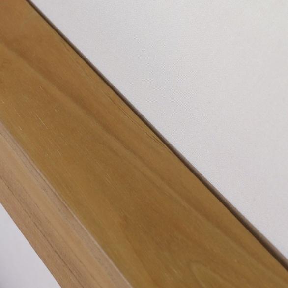 teak corner chair close up