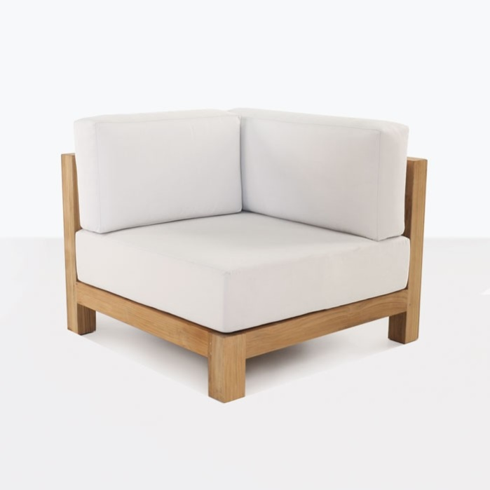 white - Ibiza Teak Sectional Corner Chair-0