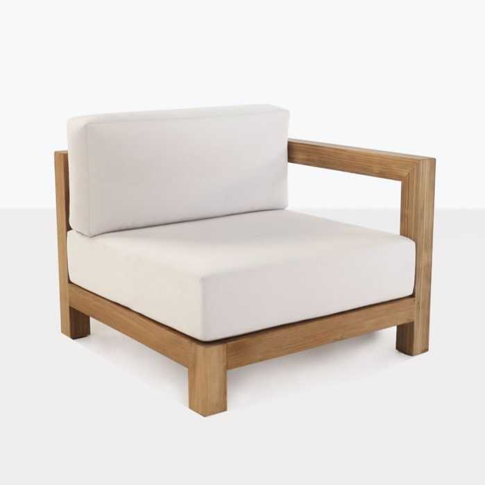 front angle view - Ibiza Teak Sectional Left Arm Chair-0