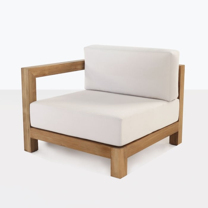 Ibiza Teak Sectional Right Arm Chair-0