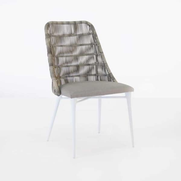 light brown outdoor wicker dining chair