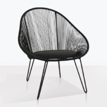 Abbey Black Wicker Relaxing Chair