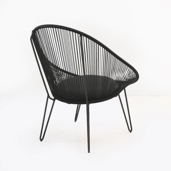 retro outdoor chair back view