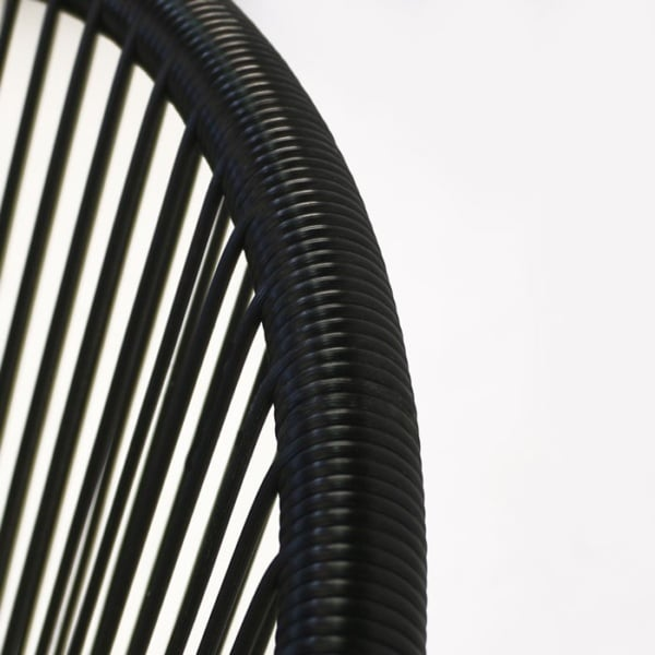 synthetic outdoor wicker closeup