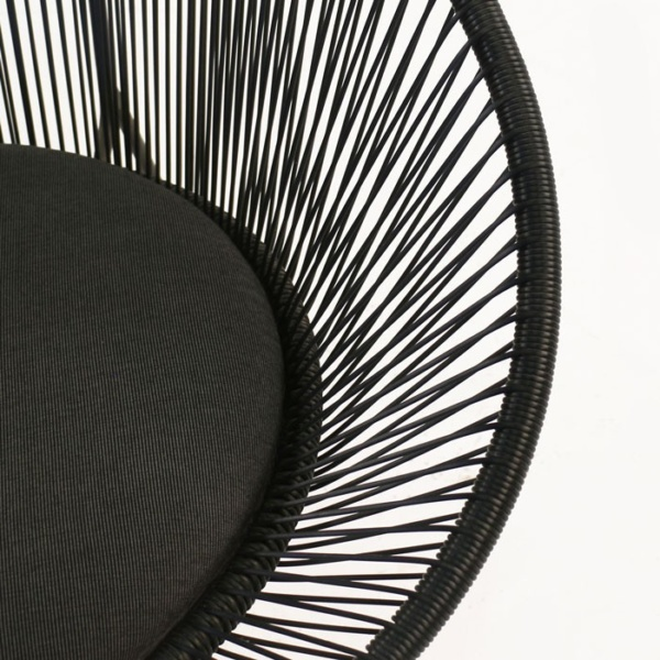 rounded outdoor wicker chair