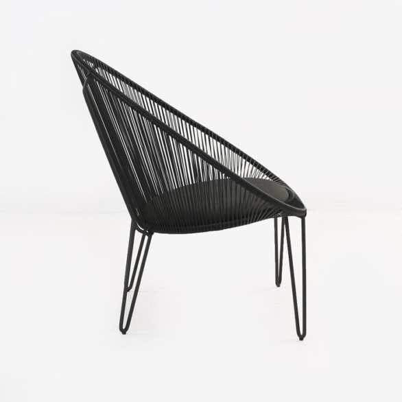 retro inspired outdoor chair side view