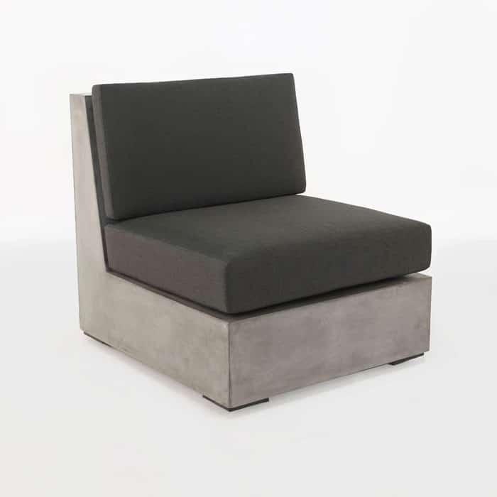 Box Concrete Center Chair Cement Outdoor Patio Furniture