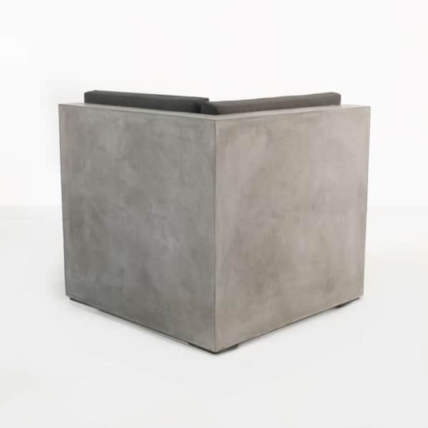 modern concrete sectional sofa corner chair