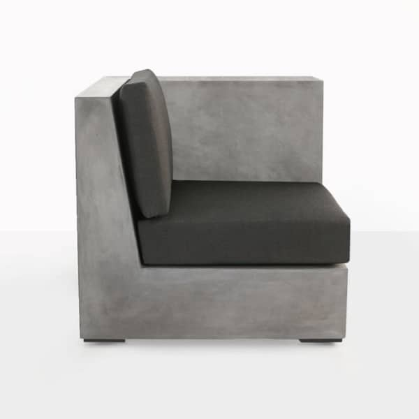 concrete sectional sofa with cushions