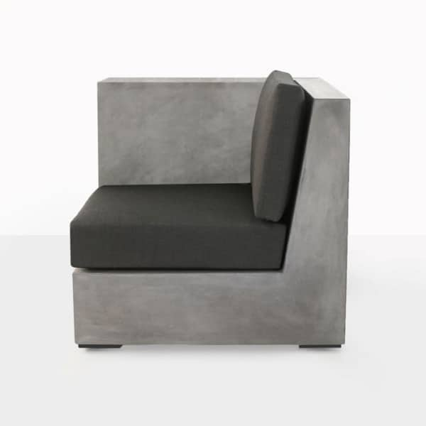 concrete right arm chair with cushion