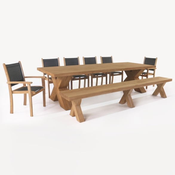 Cross Table and Tango Chair Dining Set-0