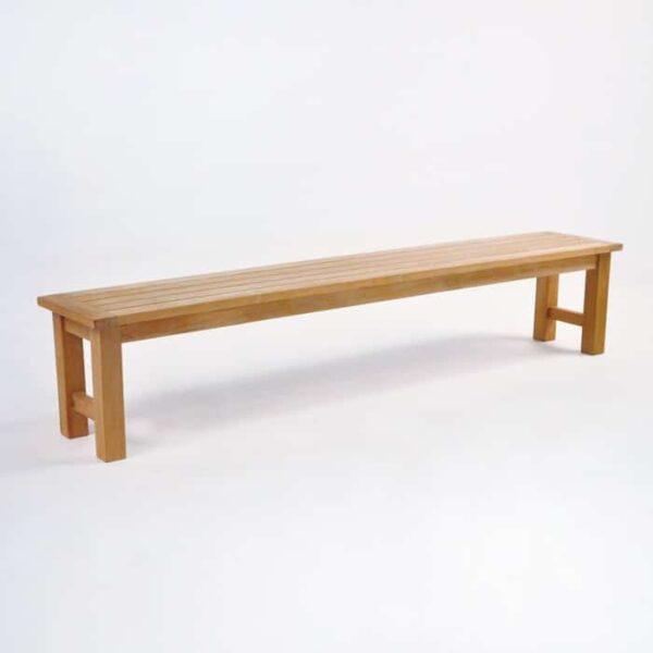 teak backless dining bench