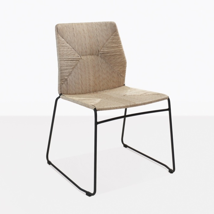 Luci Raffia And Wicker Dining Chair