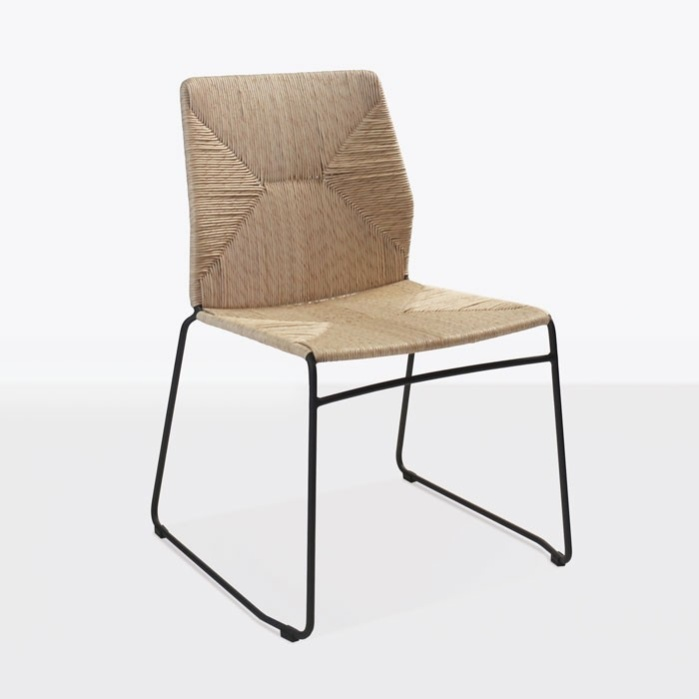 Luci Outdoor Dining Chair (Black)-0