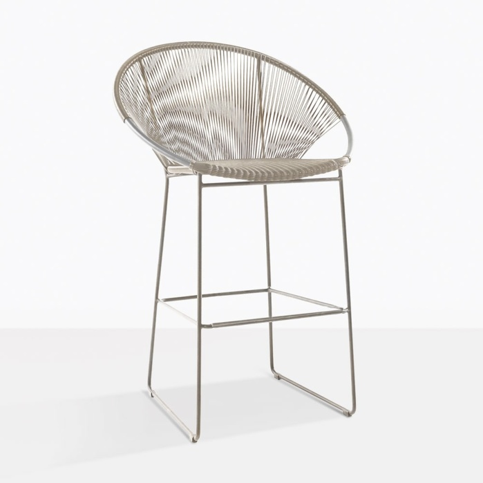 Pietro Modern Wicker Bar Chair