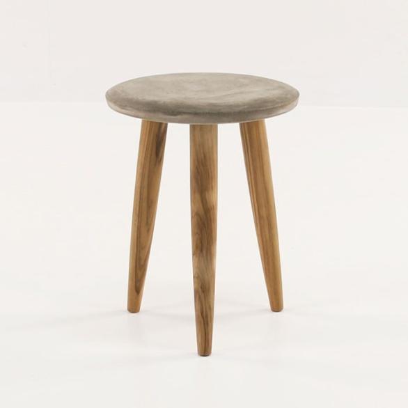Aspen Blok Concrete Round Accent Tables-0