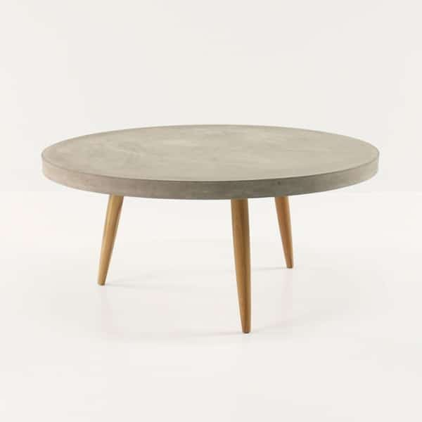 Aspen Blok Concrete Round Coffee Tables-0