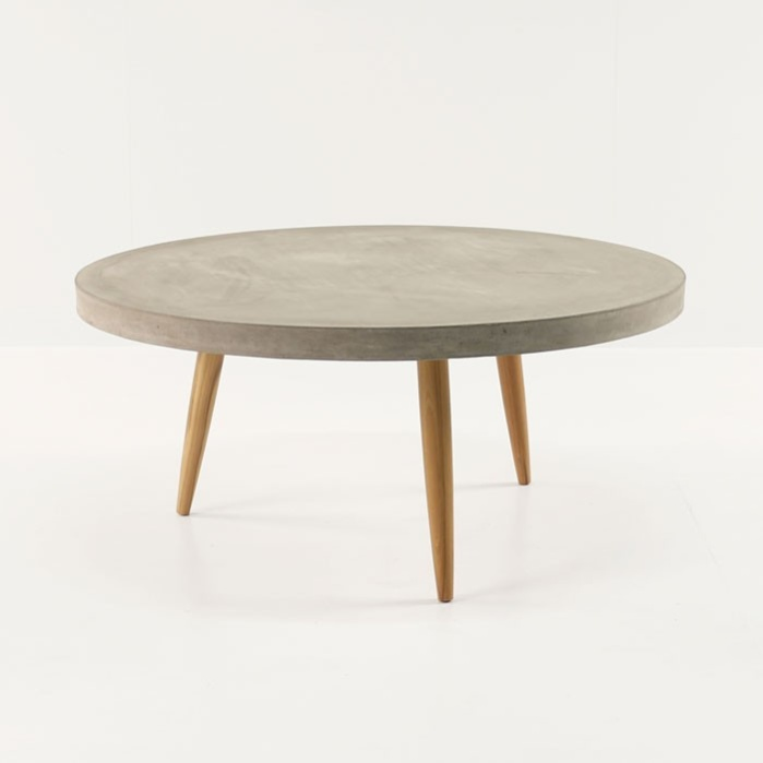 Bon Aspen Blok Concrete Round Coffee Tables 0