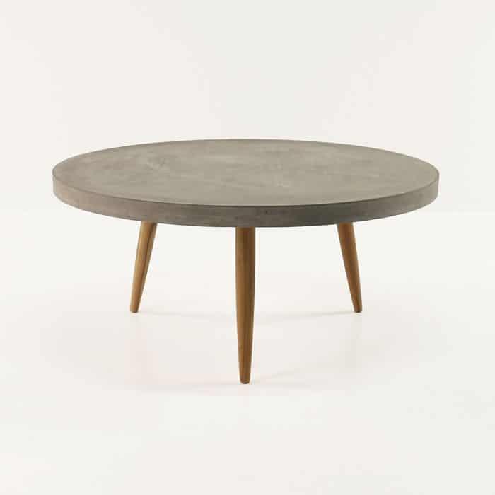 Aspen Blok Concrete Round Coffee Tables|Accessories | Teak ...