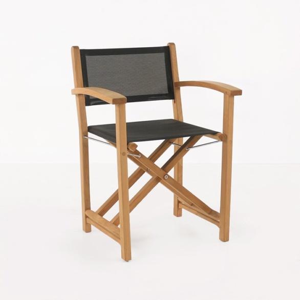 Cannes Dining Teak Directors Chair (Black)-0