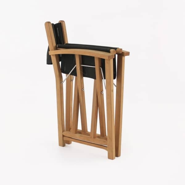 director's chair black folded
