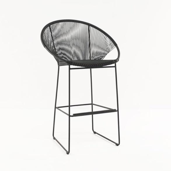 Pietro Wicker Bar Chair (Black)-0