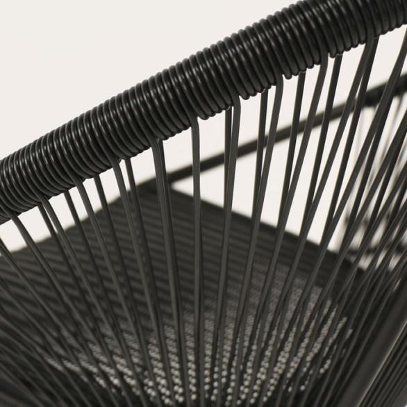modern outdoor bar stool closeup