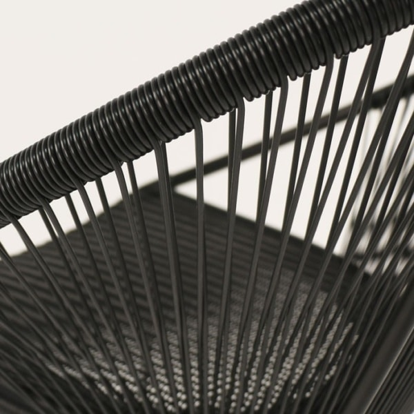 modern outdoor bar stool closeup