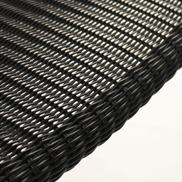 black synthetic wicker closeup image