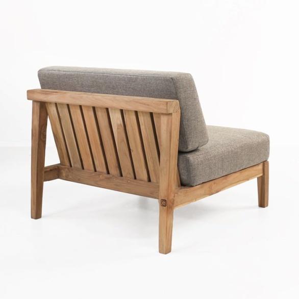 Reclaimed teak center chair back view