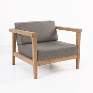 reclaimed teak club chair