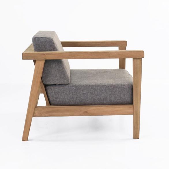 reclaimed teak chair side view