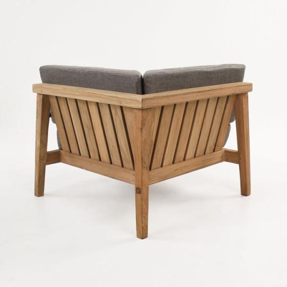 reclaimed teak corner chair back view