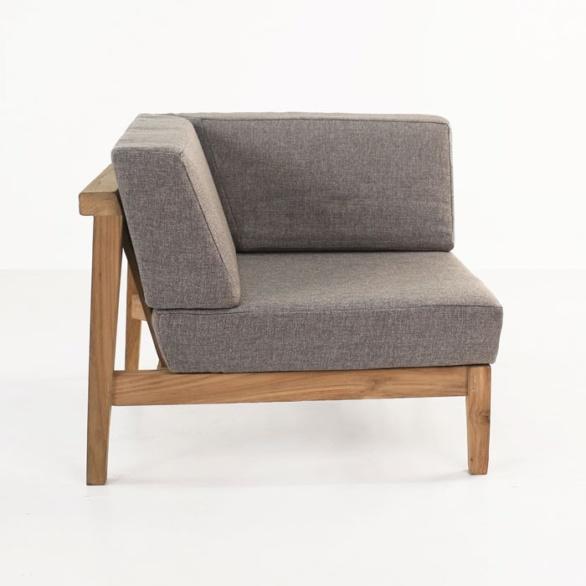 reclaimed teak corner chair side view