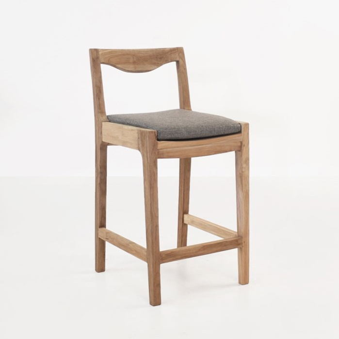 Counter Stools With Arms Part - 40: Curve Reclaimed Teak Counter Stool-0